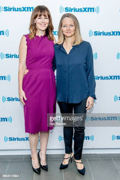 Rosemarie DeWitt and Jodie Foster visit 'Andy Cohen Live' hosted by Andy Cohen on his exclusive SiriusXM channel Radio Andy at SiriusXM Studios on...