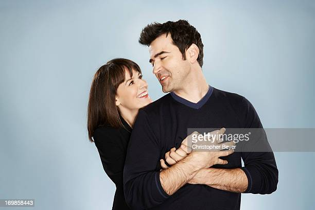 Rosemarie DeWitt and Ron Livingston are photographed for Entertainment Weekly Magazine on January 19 2013 in Park City Utah