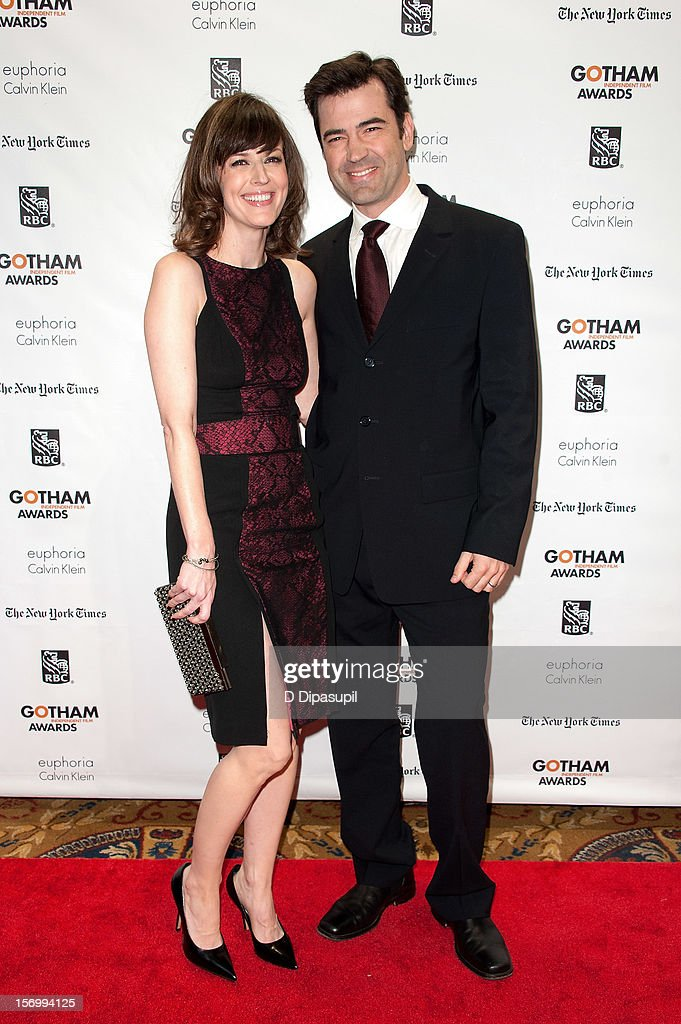 Rosemarie DeWitt (L) and Ron Livingston attend the 22nd annual Gotham Independent Film awards at Cipriani, Wall Street on November 26, 2012 in New York City.