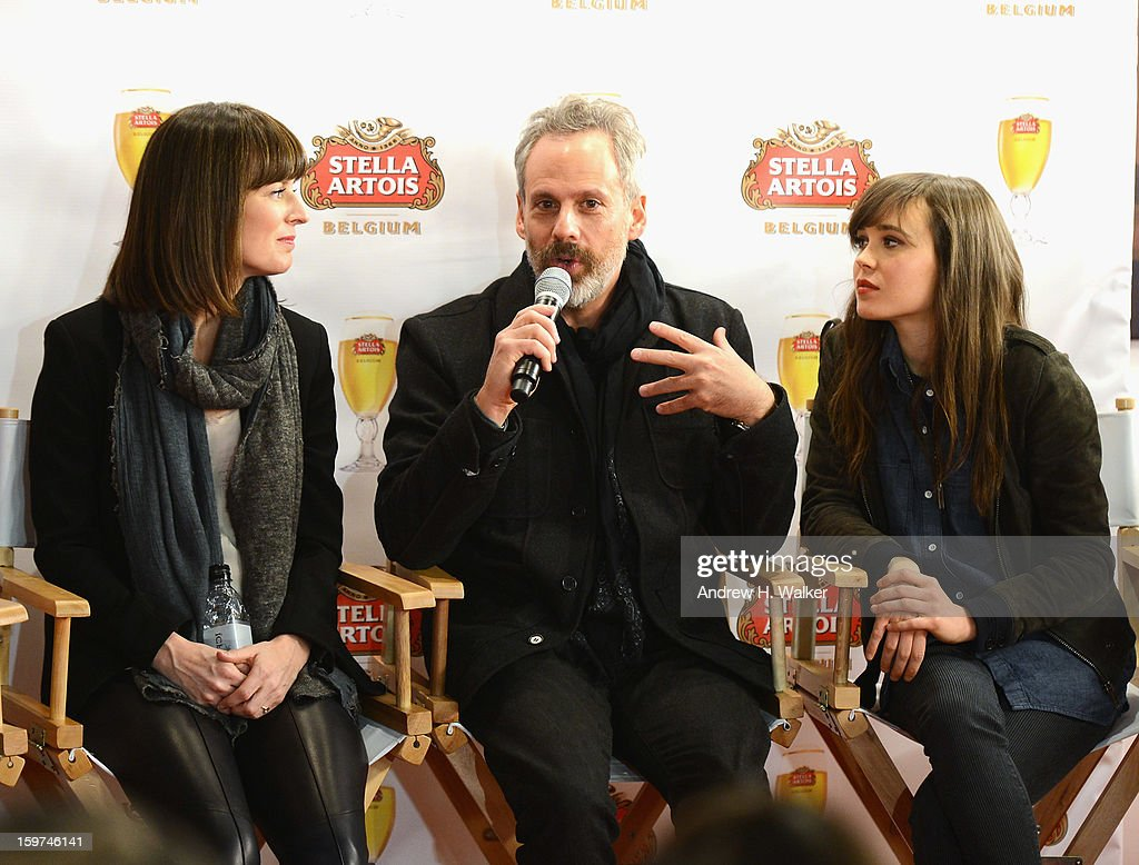 Rosemarie DeWitt, Josh Pais and Ellen Page attend the Stella Artois press junket for Sundance Film 'Touchy Feely' at Village at the Lift on January 19, 2013 in Park City, Utah.