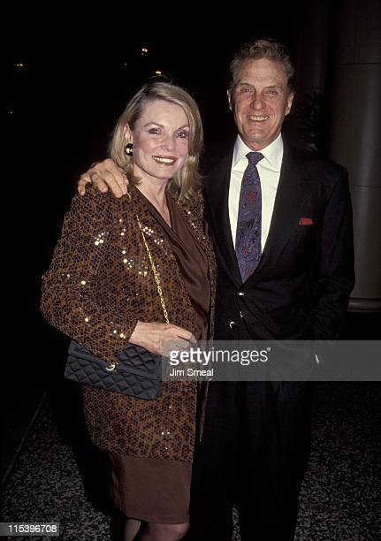 Rosemarie Stack and Robert Stack during Angel Night Benefit February 9 1992 at Beverly Wilshire Hotel in Beverly Hills California United States