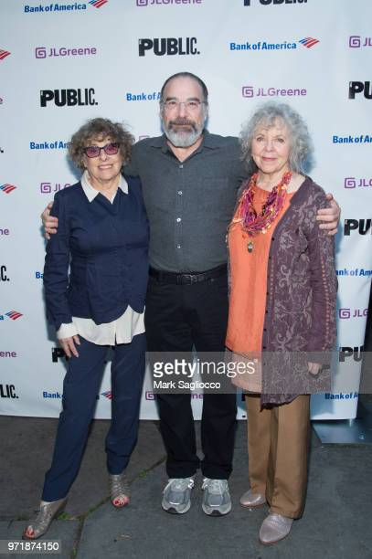Rosemarie Tichler Mandy Patinkin Kathryn Grody attend the 2018 Public Theater Gala at Delacorte Theater on June 11 2018 in New York City