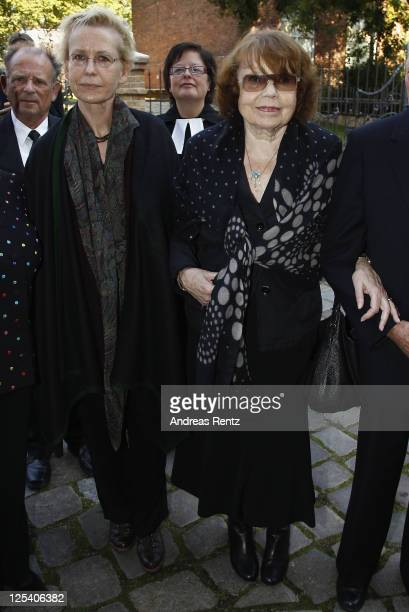 RoseMarie von Buelow widow of German comedian Vicco von Buelow and her daughter Susanne attend the memorial service to honor Vicco von Buelow at the...