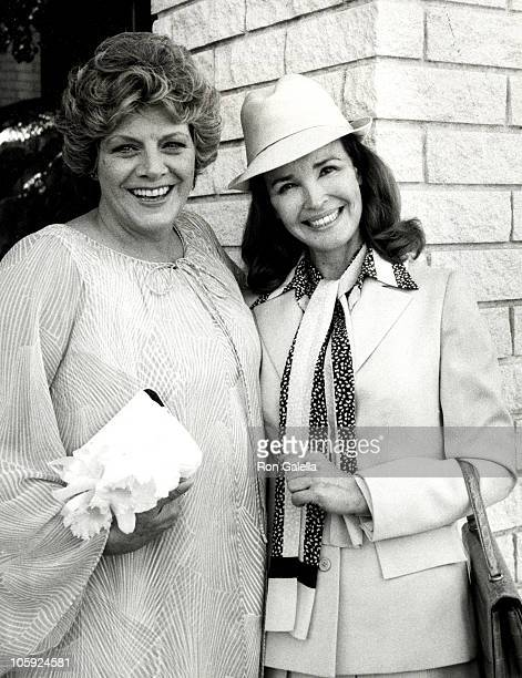 Rosemary Clooney and Kathryn Crosby during Debbie Boone and Gabriel Ferrer Wedding Reception September 1 1979 at Wilshire Country Club in New York...