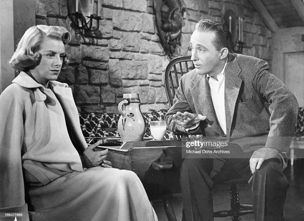 rosemary clooney sitting as bing crosby gestures in a scene from the film white christmas - How Old Was Bing Crosby In White Christmas