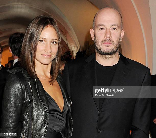 Rosemary Ferguson and Jake Chapman attend the Place For Peace dinner cohosted by Ella Krasner and Forest Whitaker to support the Peace Earth...