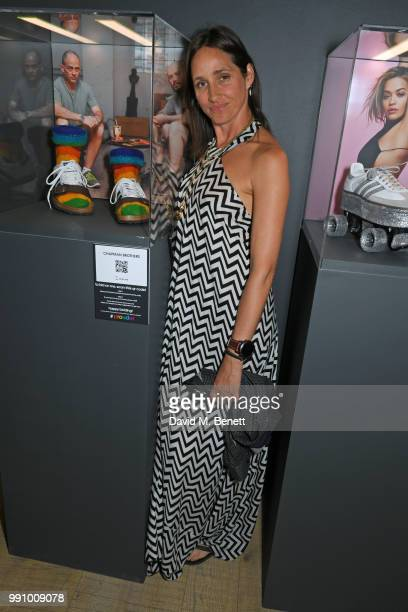 Rosemary Ferguson attends adidas 'Prouder' A Fat Tony Project in aid of the Albert Kennedy Trust supporting LGBT youth at Heni Gallery Soho on July 3...