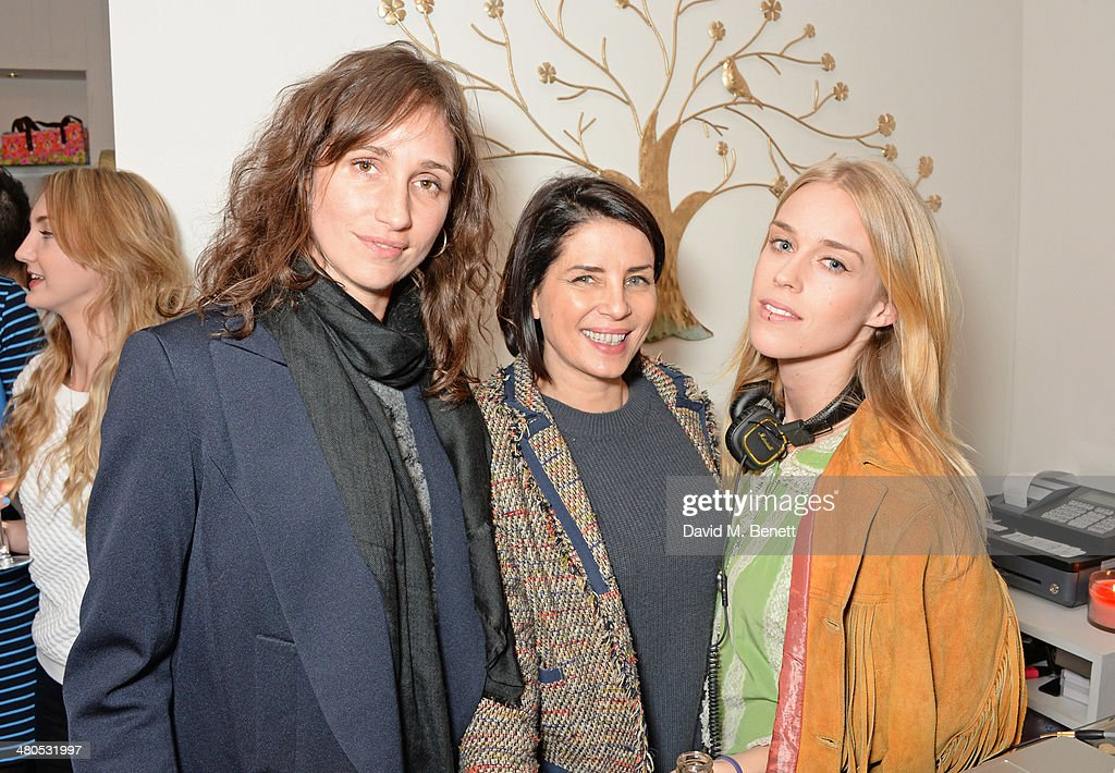 Rosemary Ferguson, Sadie Frost and Mary Charteris attend the Lark London boutique launch party on March 25, 2014 in London, England.