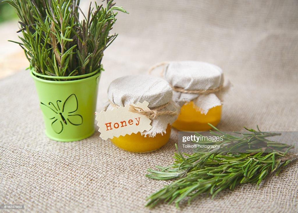 Rosemary honey : Stock Photo
