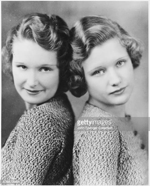 Rosemary Lane at age 14 and Priscilla Lane at age 13 when they attended high school in Indianola Iowa