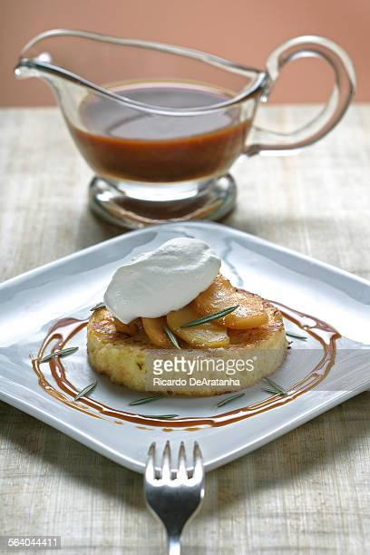 Rosemary Pain Perdu with sauteed apples and Chantilly Cream