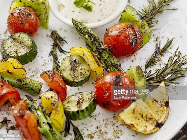 BBQ, Rosemary Vegetable Skewers