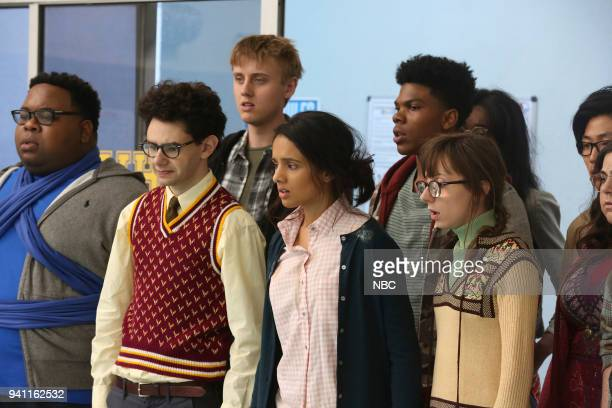 AP BIO 'Rosemary's Boyfriend' Episode 110 Pictured Eddie Leavy as Anthony Nick Peine as Marcus Jacob McCarthy as Devin Aparna Brielle as Sarika...