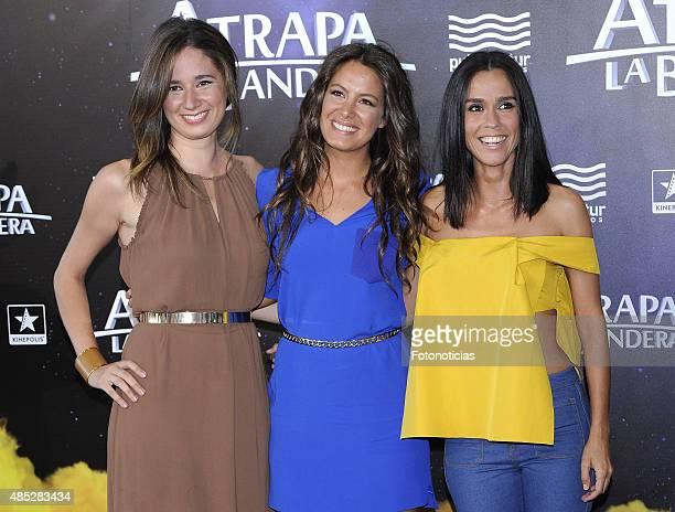 Rosemay Alker Laura Madrueno and Alba Lago attend the 'Atrapa La Bandera' Madrid Premiere at Kinepolis Cinema on August 26 2015 in Madrid Spain