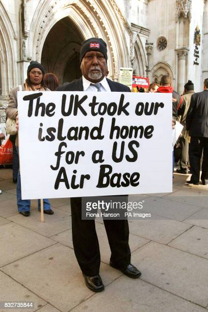Rosemond Sameenaden joins other Chagos islanders outside the High Court London where they are fighting the UK government for the reinstatement of...