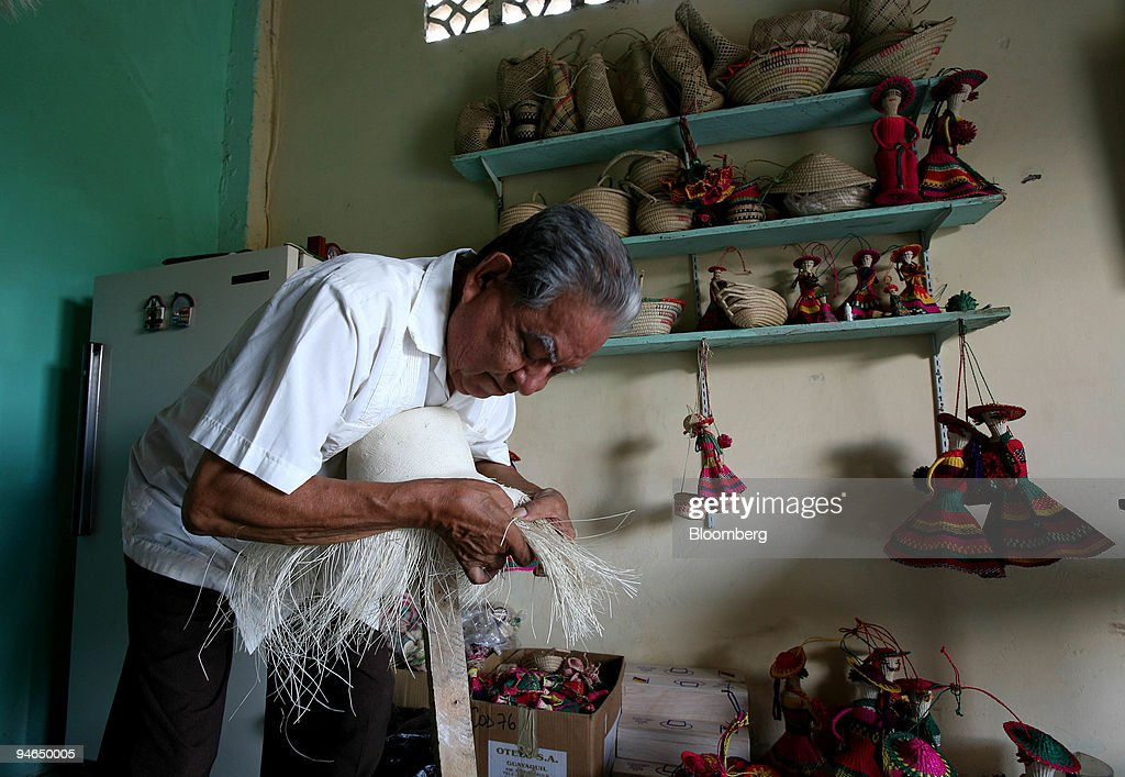 Rosendo Delgado, one of the oldest hat makers in the town of : News Photo