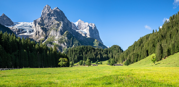 Rosenlaui Glacier, Meiringen, Canton of Bern, Switzerland, Europe - gettyimageskorea