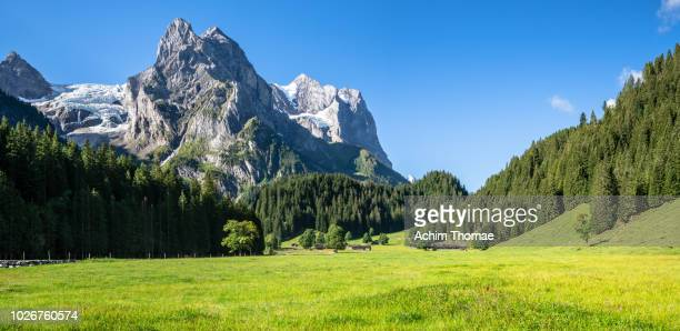 rosenlaui glacier, meiringen, canton of bern, switzerland, europe - panorama stock-fotos und bilder