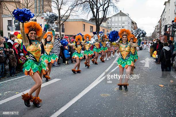 Rosenmontagszug, Street carnival on Rose Monday in Mainz, German