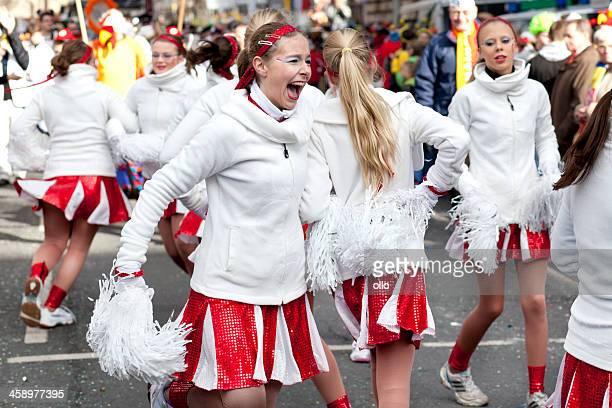 Rosenmontagszug, Street carnival on Rose Monday in Mainz, Germany