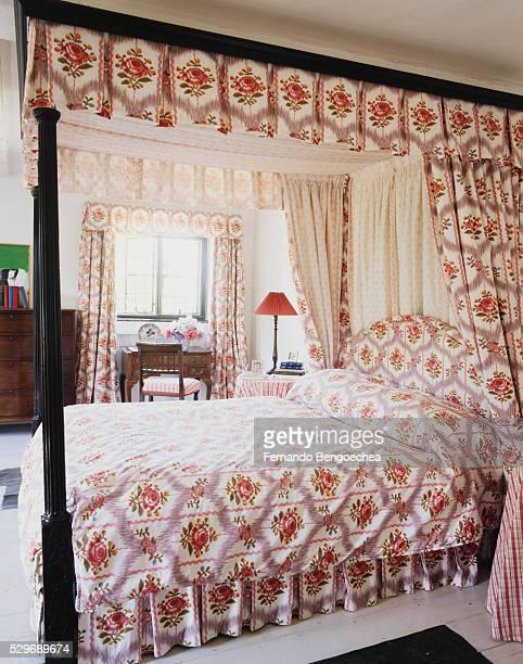 Rose-Patterned Bedroom