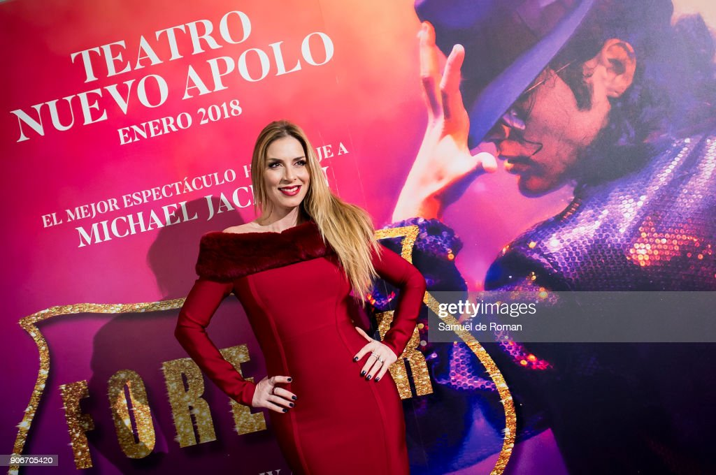 Roser attends the 'Forever Jackson' Madrid Premiere on January 18, 2018 in Madrid, Spain.