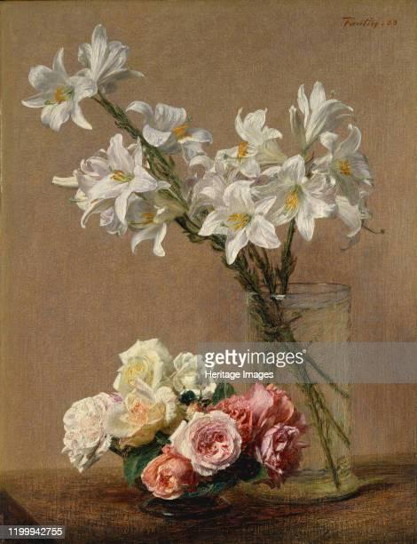Roses and Lilies, 1888. Artist Henri Fantin-Latour.