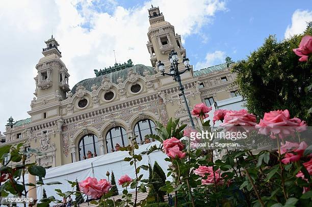Roses are seen during the 45th International Concours de Bouquets Opening on May 5 2012 in Monaco Monaco