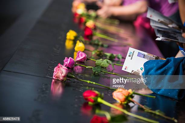 Roses at 9/11 Memorial, New York City, Manhattan, USA