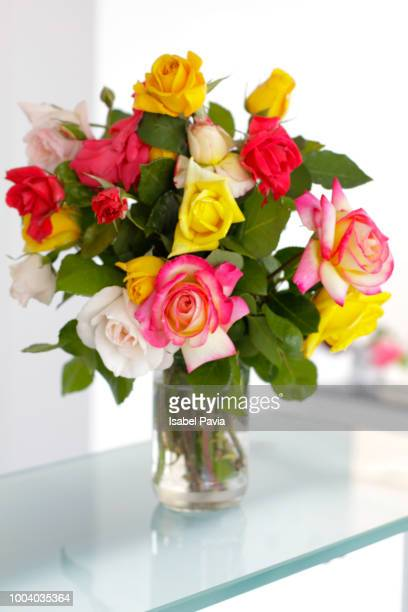 Roses bouquet in jar