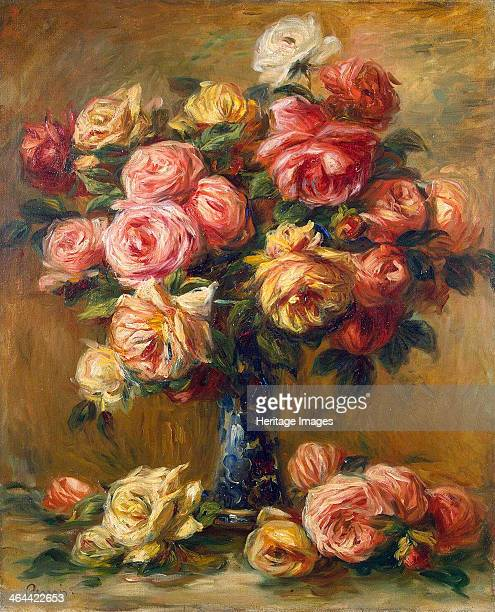 'Roses in a Vase' c1910 Renoir Pierre Auguste Found in the collection of the State Hermitage St Petersburg
