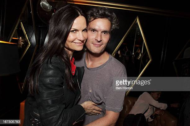 Rosetta Getty and actor Balthazar Getty attend the Balthazar Getty record release party for Solardrive and launch of new record label Purplehaus at...