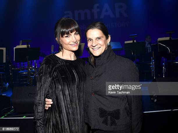 Rosetta Getty and Aileen Getty attend amfAR's Inspiration Gala at Milk Studios on October 27 2016 in Hollywood California