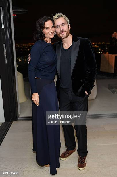Rosetta Getty and Balthazar Getty attend NETAPORTER Celebrates Rosetta Getty on November 20 2014 in Los Angeles California