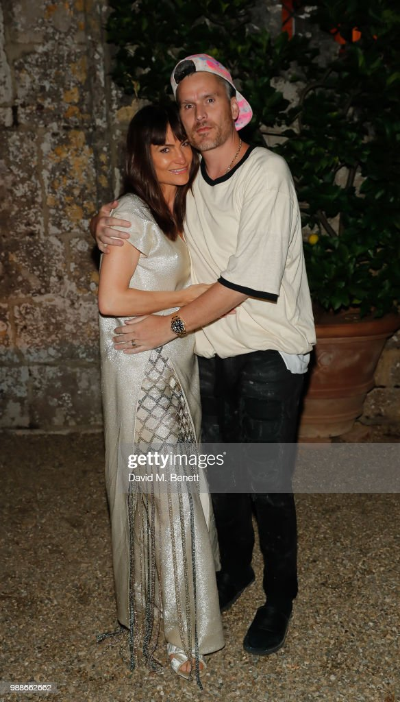Rosetta Getty and Balthazar Getty attend the third annual Tuscany weekend at Villa Cetinale on June 30, 2018 in Italy.