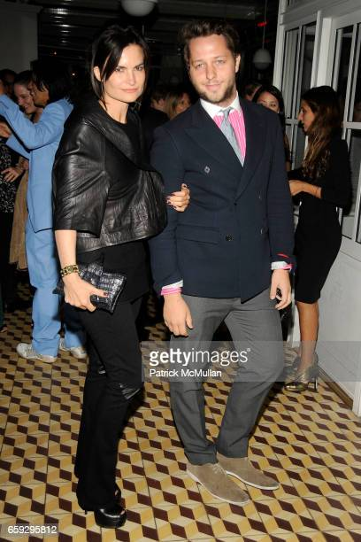 Rosetta Getty and Derek Blasberg attend CALVIN KLEIN COLLECTION Women's Spring 2010 Post-Show Dinner at The Standard on September 17, 2009 in New...
