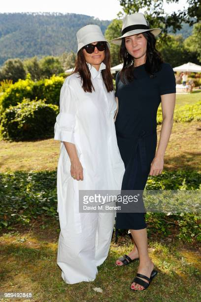 Rosetta Getty and Michele Hicks attend Rosetta Getty's third annual Tuscany weekend at Villa Pipistrelli on July 01 2018 in Sovicille Italy