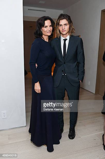 Rosetta Getty and Will Peltz attend NETAPORTER Celebrates Rosetta Getty on November 20 2014 in Los Angeles California