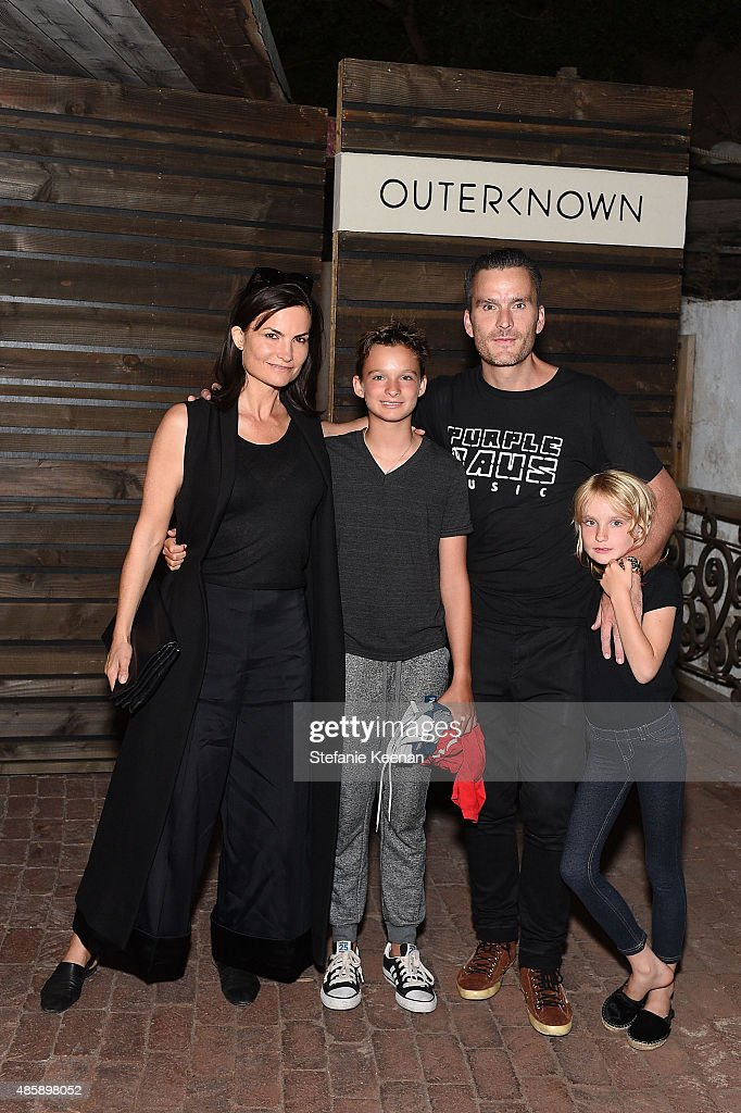 Rosetta Getty, Balthazar Getty and children attend Kelly Slater, John Moore and Friends Celebrate the Launch of Outerknown at Private Residence on August 29, 2015 in Malibu, California.