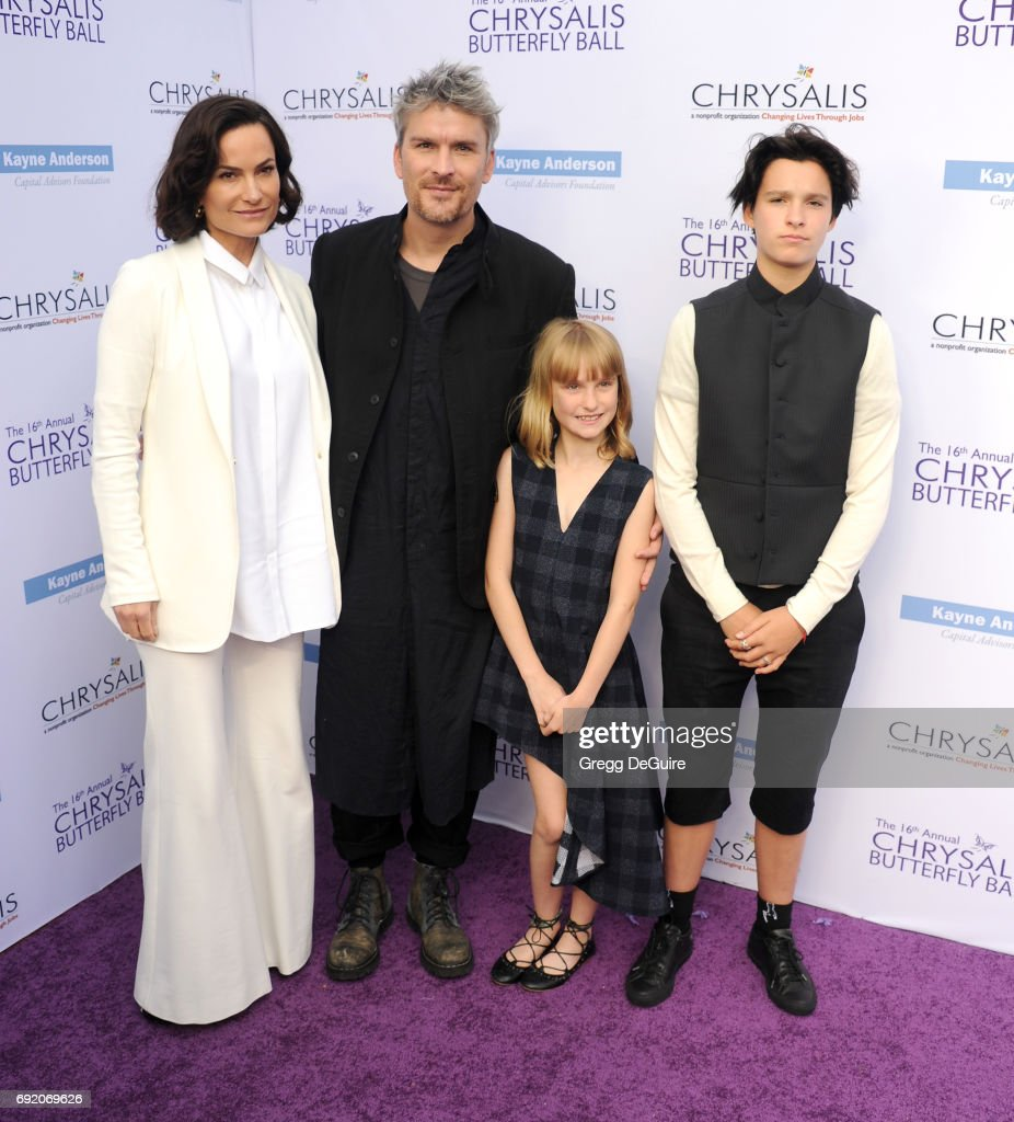 Rosetta Getty, Balthazar Getty, Violet Getty and June Getty arrive at the 16th Annual Chrysalis Butterfly Ball at a private residence on June 3, 2017 in Brentwood, California.