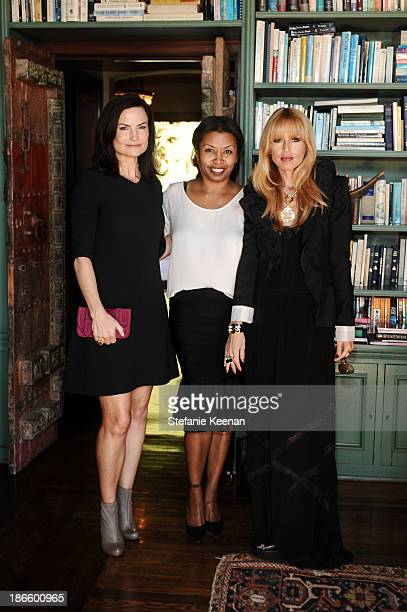 Rosetta Getty, Brigette Romanek and Rachel Zoe attend David Webb 65th Anniversary Luncheon With Glenda Bailey on November 1, 2013 in Los Angeles,...