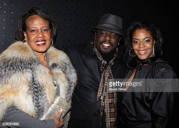 Rosetta Kyles son Cedric the Entertainer and wife Lorna Wells pose at the opening night after party for David Mamet's Revival of American Buffalo on...