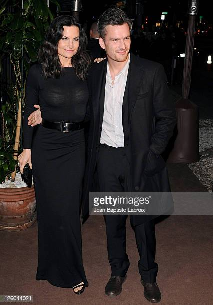 Rosetta Millington and Balthazar Getty sighted attending Chanel and Charles Finch pre-Oscar party celebrating fashion and film at Madeo restaurant on...