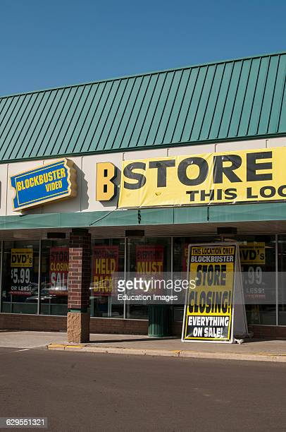 Roseville Minnesota Blockbuster closing all stores because consumer demand is moving to digital distribution of video entertainment