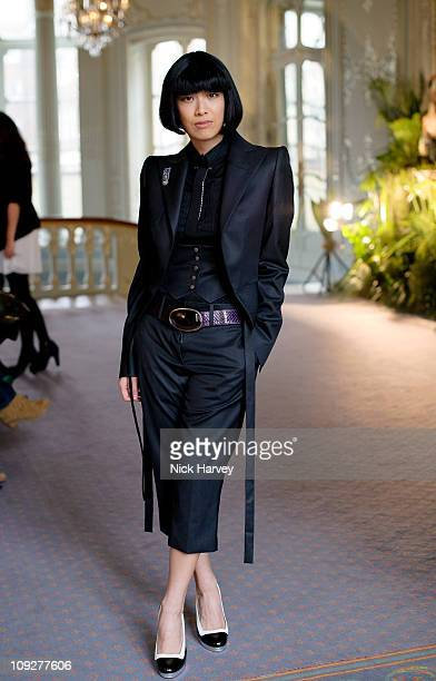 Rosey Chan attends the presentation of Saloni's A/W 2011 collection during London Fashion Week on February 18 2011 in London England