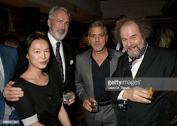 Rosey Chan Jeremy King George Clooney and Mike Figgis attend the London launch of Casamigos Tequila and Cindy Crawford's book 'Becoming' hosted by...