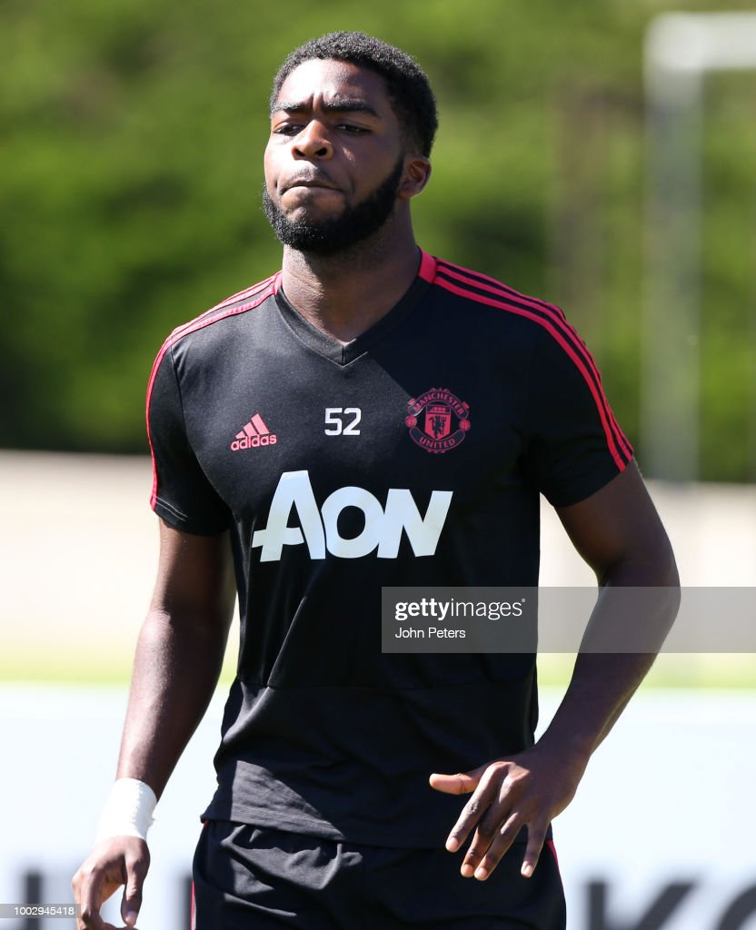 Ro-Shaun Williams of Manchester United in action during a Manchester United pre-season training session at UCLA on July 20, 2018 in Los Angeles, California.