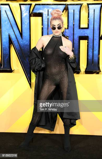 Roshelle attends the European Premiere of 'Black Panther' at Eventim Apollo on February 8 2018 in London England