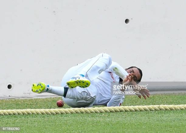Roshen Silva of Sri Lanka fielding during day 5 of the 2nd Test between West Indies and Sri Lanka at Daren Sammy Cricket Ground Gros Islet St Lucia...