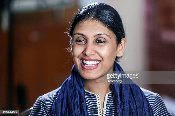 Roshni Nadar chief executive officer for HCL Corp speaks during an interview in Noida Uttar Pradesh India on Friday Oct 2 2015 Despite being Chief...